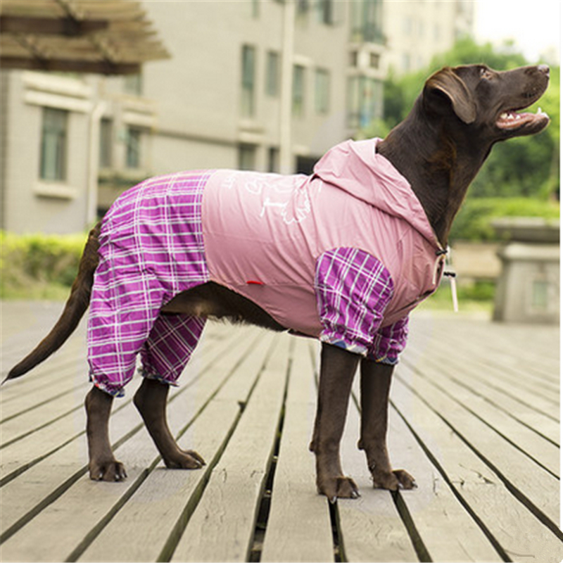 Pet Dog Raincoat Reflective Clothing Impermeable Rain Coat Spaniel Transparent Rainwear Dog Clothes Poncho Waterproof DDMXY95