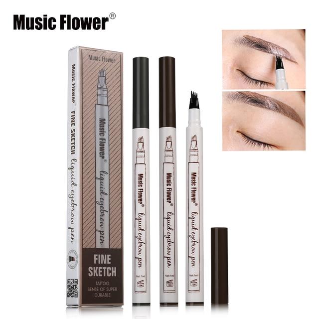 1pc Eyebrow Eyebrow Pencil Eyebrow Pen Women Girl Waterproof Fork Tip Eyebrow Tattoo Pen Brow Pencil Best Selling 2018 Products