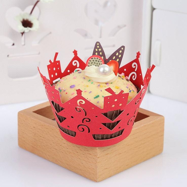 100 шт./лот Кружево с Дизайн Завертчицы торт чашки для свадьбы День рождения Baby Shower партии Рождество Праздник сувениры