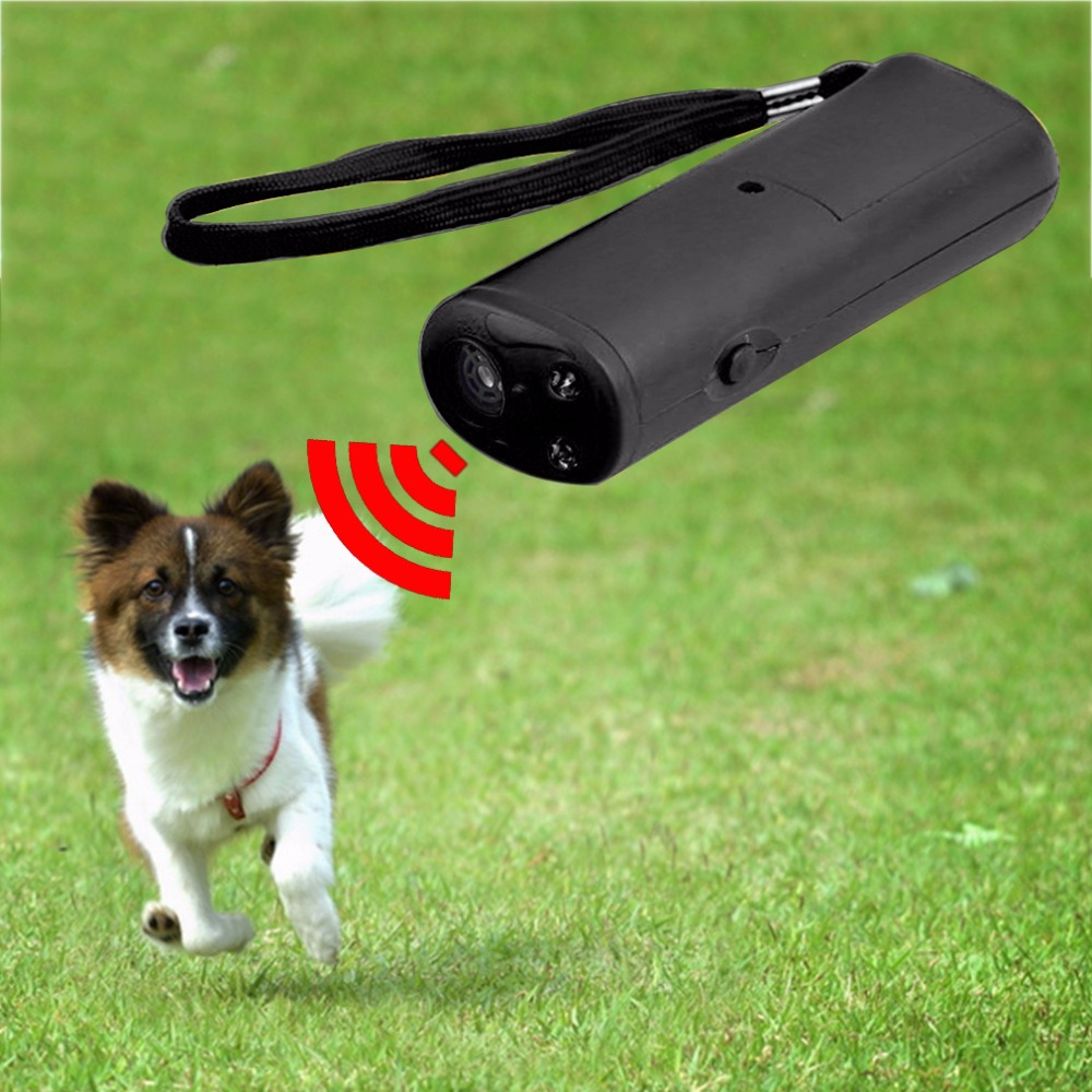 3 në 1 Anti Barking Stop Barking Dog Training LED Ultrasonic Anti Barking Training Dog Qarkullues Repeller Kontrolli i Pajisjes Trainer Pet