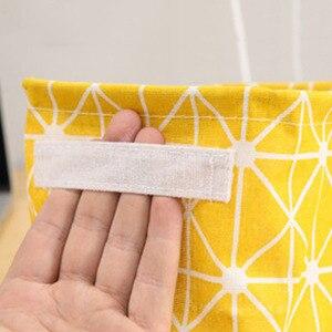 Image 5 - Bolsa de almacenamiento de celosía de ropa de estilo nórdico Organizador de armario plegable para almohada colcha manta bolsa de edredón