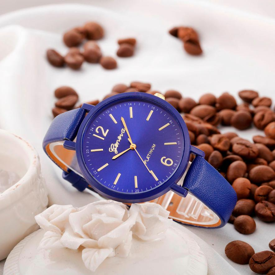 Luxury brand Simple Women watches 2018 New fashion Casual Faux Leather Quartz women Wrist Watch relogio feminino Gift 2018 #C HTB1O527BQyWBuNjy0Fpq6yssXXaG