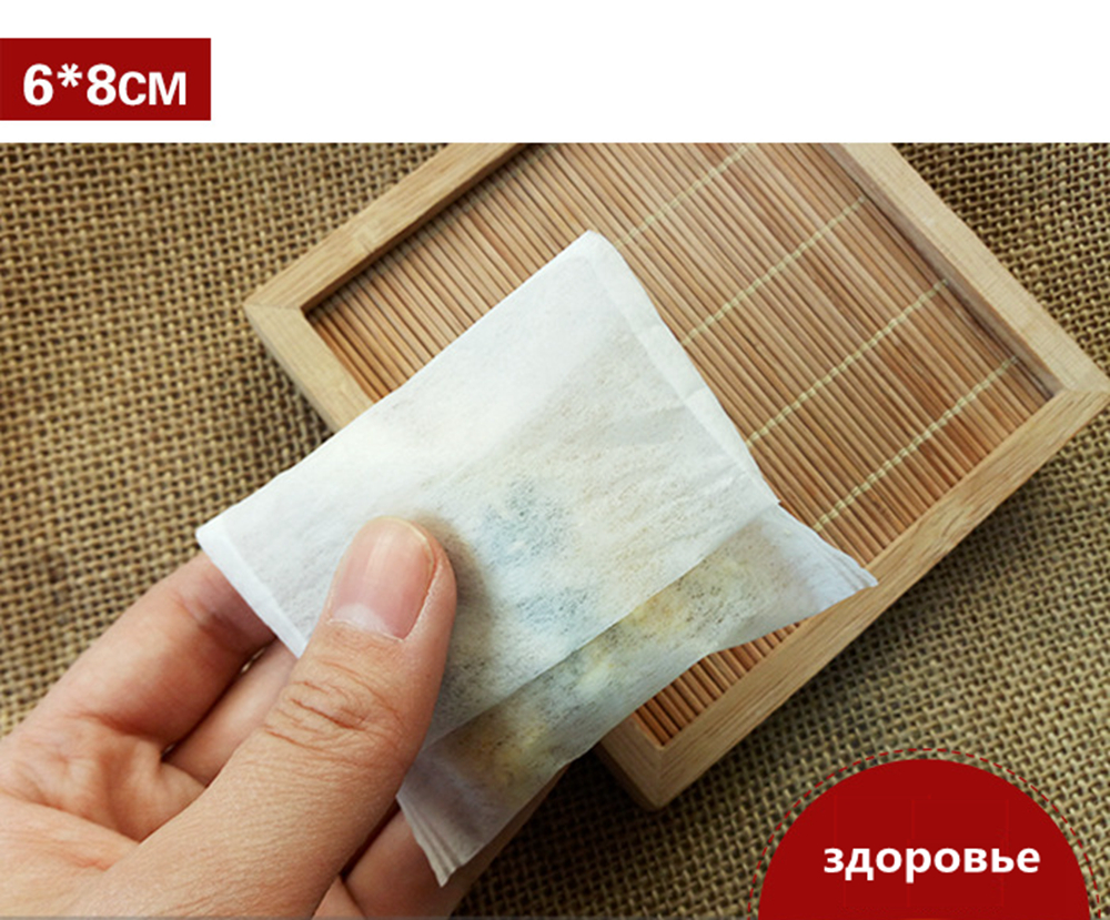 100Pcs Set Teabags 6x8CM 7x10CM 6x8CM Empty Scented Tea Bags With String Heal Seal Filter Paper for Herb Loose Tea in Disposable Tea Bags from Home Garden