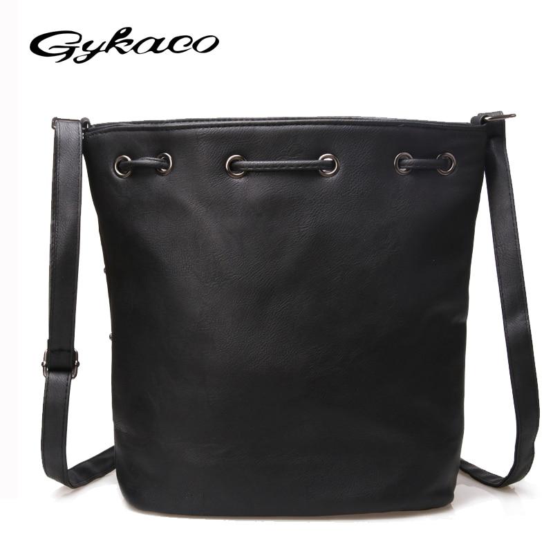 Gykaeo 2017 vrouwen emmer tas vintage klinknagel uitgehold crossbody - Handtassen - Foto 4