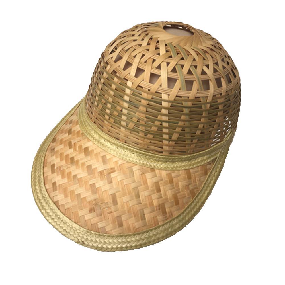 3881e06367ce1 Handmade Weave Straw Hat Chinese Style Bamboo Rattan Hats Tourism Sunshade  Rain Caps Fisherman Bucket Hat
