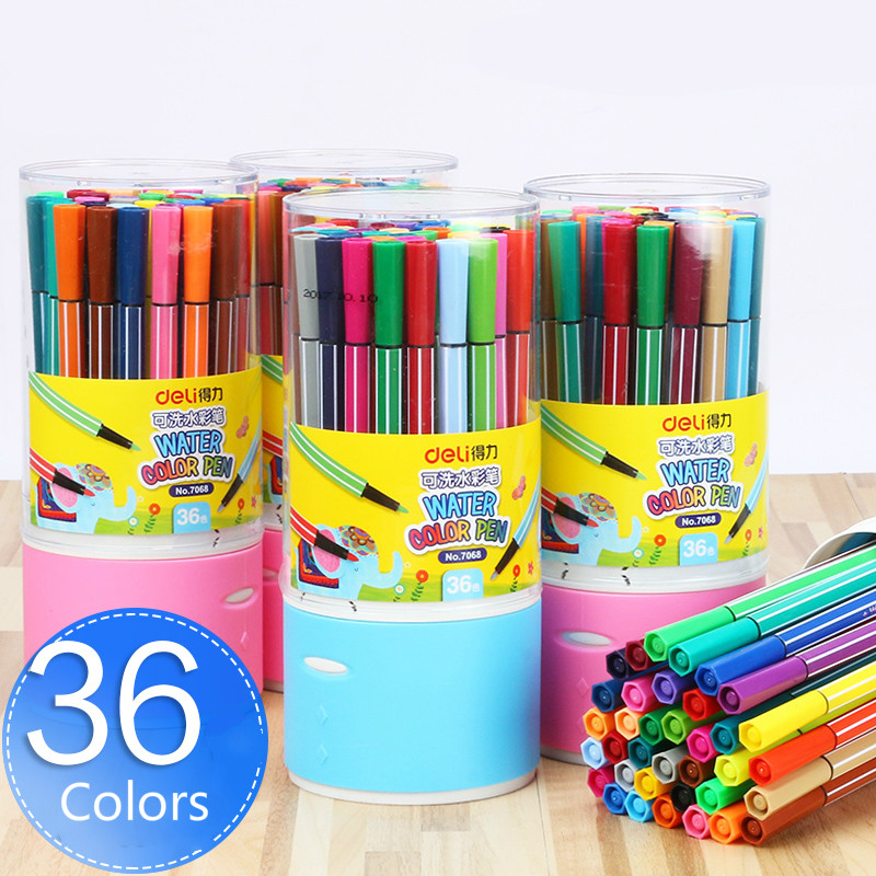 12/18/24/36 Colors Washable Colored Pen Painting Markers Artist Drawing Set Student Art Supplies Highlights Watercolor Pens 12 18 24 30 colors set germany stabilo 280 washable drawing painting pen colored markerpen highlighter pen students art painting