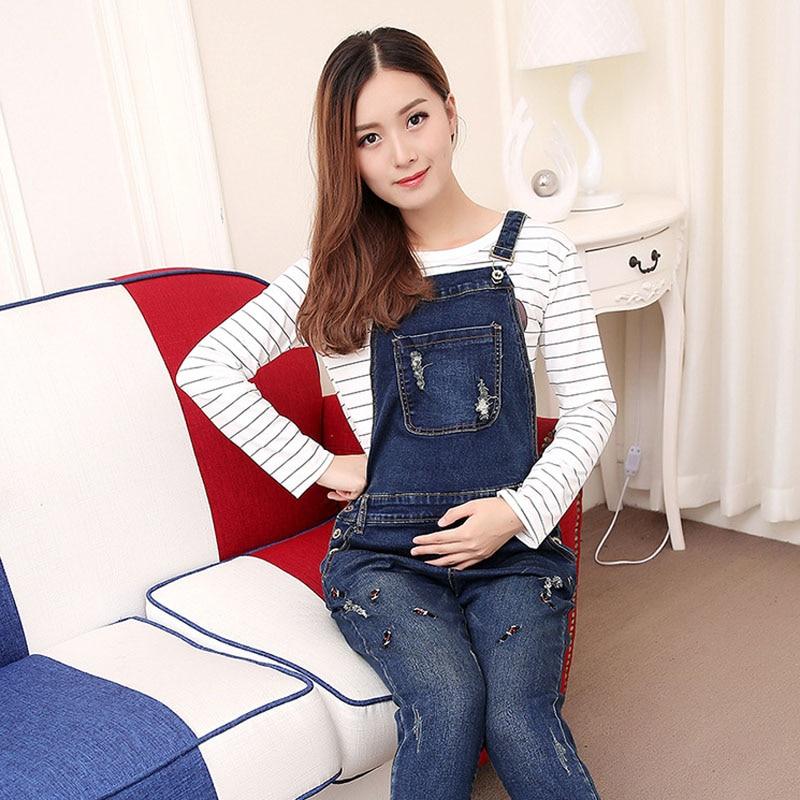 057683ffb88e BAHEMAMI Denim Overalls Maternity Jeans Straps Pants For Pregnant Women  Clothes Pregnancy Braced Suspender Jumpsuits Rompers