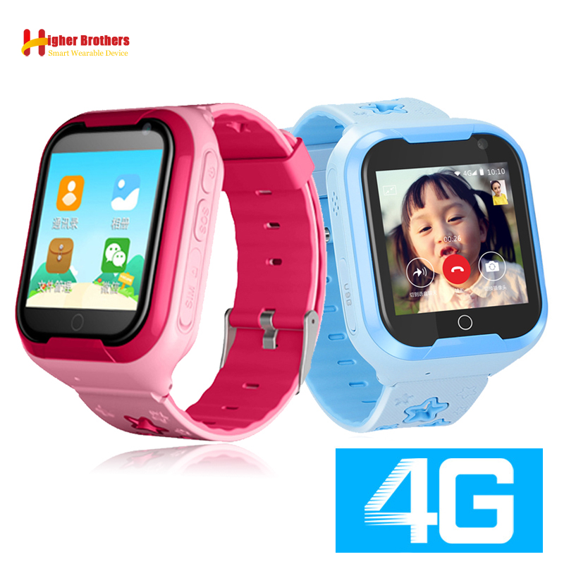 Smart 4G Child GPS WIFI Tracker Kids Android IOS Waterproof Baby SOS Remote Monitor Camera Video Call Android Watch Wristwatch