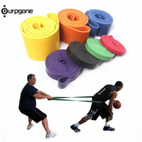 2017 208cm Natural Latex Pull Up Physical Resistance Bands Fitness Cross Fit Loop Body Bulding Yoga