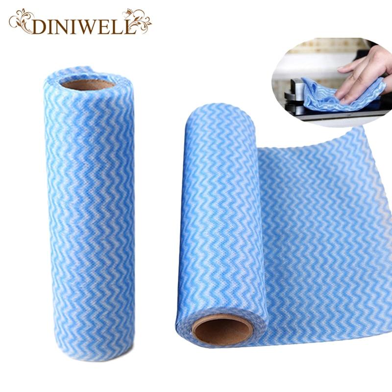 ჱDINIWELL multiusos toalla rollo no tejido paño de limpieza para el ...