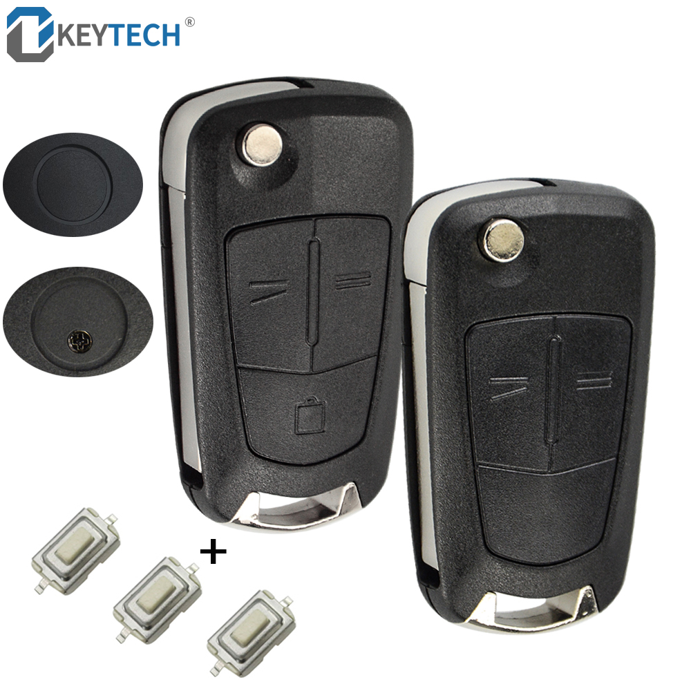OkeyTech Flip Remote Folding Car Key Cover Fob Case Shell Styling Case 2 3 Buttons For Vauxhall Opel Corsa Astra Vectra Signum