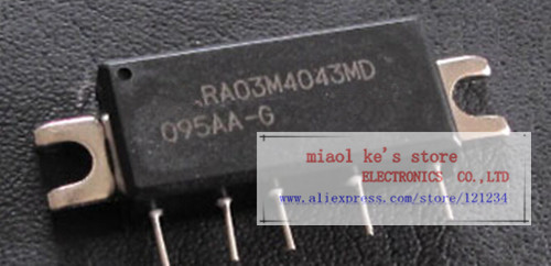 RA03M4043MD RA03M4043MD-101  ~100%New Original, [400-430MHz 38dBm 7.2V, 2 Stage Amp. For PORTABLE RADIO ] RF MOSFET MODULERA03M4043MD RA03M4043MD-101  ~100%New Original, [400-430MHz 38dBm 7.2V, 2 Stage Amp. For PORTABLE RADIO ] RF MOSFET MODULE