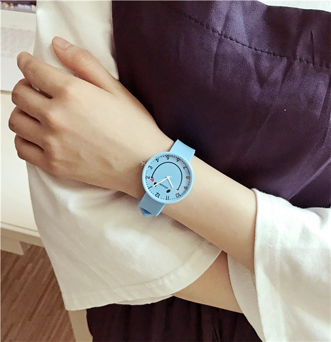 Ulzzang Brand Black White Silicone Watches Student Women Men Sport Quartz Watch Couple Ultra Slim Casual Watch Relojer Feminino