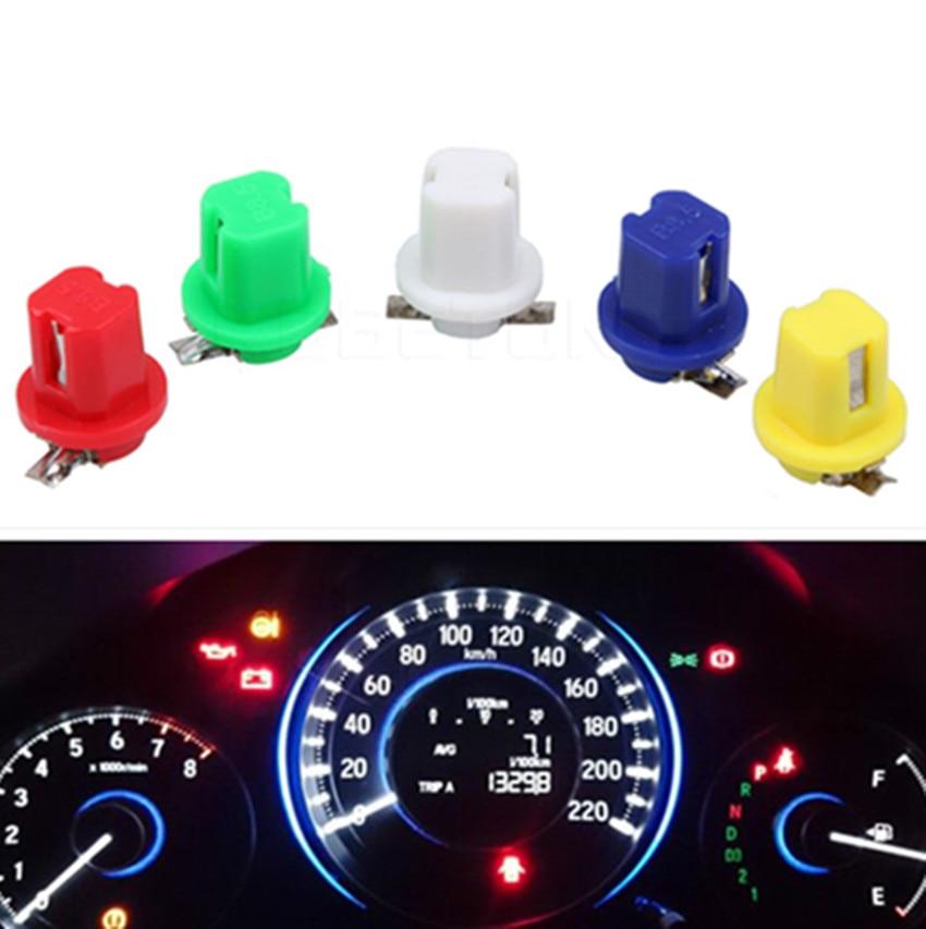 10 шт. B8.5 приборная панель приборной панели инструмент cob автомобисветильник боковая лампа с клиновидным цоколем лампа красный/зеленый/желт...