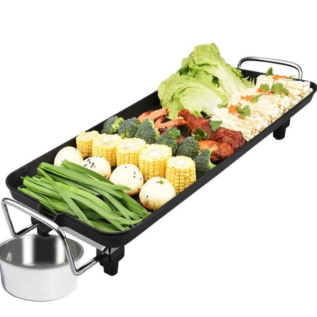 kebab meat fish steak roast outdoor electric cooking baking pan hotplate bbq roaster grill machine oven tool barbecue