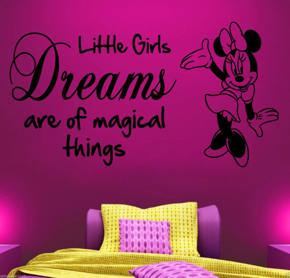 Popular Minnie Mouse Removable Kids Wall Sticker Decor Sticker Vinyl Decal  For Children Nursery Room Home