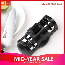 Original Xiaomi MIjia Huohou Double Wheel Professional Kitchen Knife Sharpener Grinder knives Quick Sharpener Tool(China)
