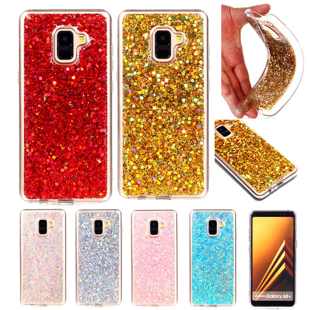 separation shoes daaf2 a3238 US $3.49 |For Samsung A8 Plus 2018 A730 Case Colored Shiny Glitter Silicone  TPU Gel Soft Back Cover Case for Samsung Galaxy A8 Plus 2018 -in Fitted ...