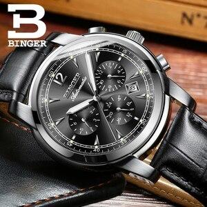 Image 5 - Szwajcaria automatyczny zegarek mechaniczny mężczyźni Binger luksusowej marki zegarki męskie Sapphire zegar wodoodporny reloj hombre B1178 20