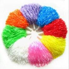 1 шт.,, фиолетовые принадлежности для чирлидинга, мяч для чирлидинга, цветок, пластиковые Ручные цветы, помпоны для чирлидинга