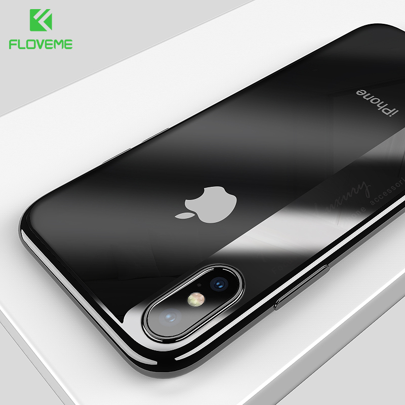 FLOVEME Soft Silicone Case for iPhone X iPhone 8 7 plus Luxury Plated Case for iPhone 8 6 6s plus Cover Clear Phone Capinhas New iPhone 8