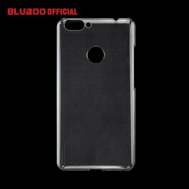BLUBOO Dual Transparent Protective Plastic Case Cover with Professional Explosion-proof Tempered Glass Film 9H Safety Screen
