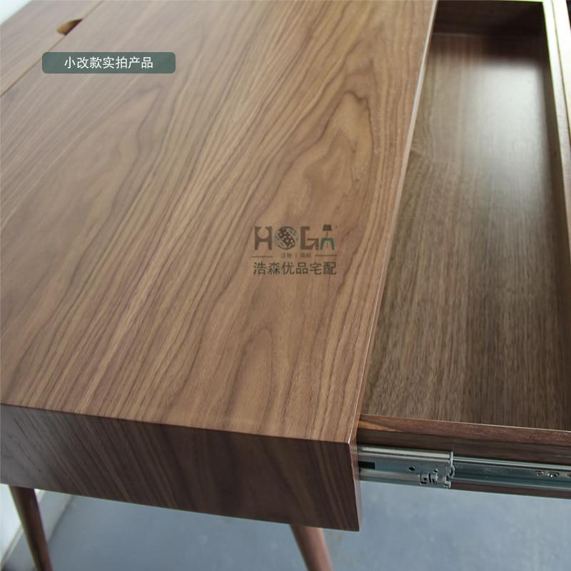 Aliexpress  Buy Scandinavian modern style furniture designer desk  walnut wood veneer desk minimalist square feet of new from Reliable veneer  door ...