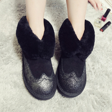 Wholesale High Quality Women Classic Mini Snow Boots Genuine sheepskin Warm Winter Shoes real wool women ankle boots