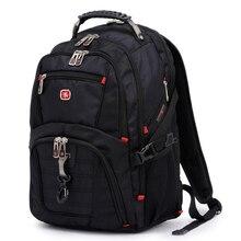 Swiss Men's Backpack 15.6 inch Computer Notebook School Travel Bags Unisex Large Capacity bagpack waterproof Business mochila