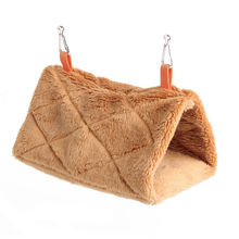 Мягкий плюшевый гамак для домашних животных, гамак для попугая, теплая подвесная кровать для домашних животных, пещерная клетка, домик, палатка, игрушечный домик
