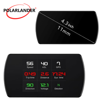 Car HUD Display  HUD Smart Digital Meter Head Up Display GPS Satellites Speed  GPS Speedometer  Work for All Vehicles