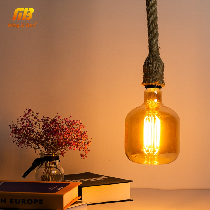 E27 Retro Edison Bulb LED Filament Light Bulbs 4W AC220V 240V P140 Ampoule Vintage Pendant Lamp Filament Spiral Industrial Decor
