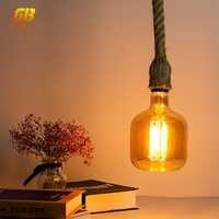 E27 Retro Edison Bulb LED Filament Light Bulbs 4W AC220V 240V P140 Ampoule Vintage Pendant Lamp Filament Spiral Industrial Decor