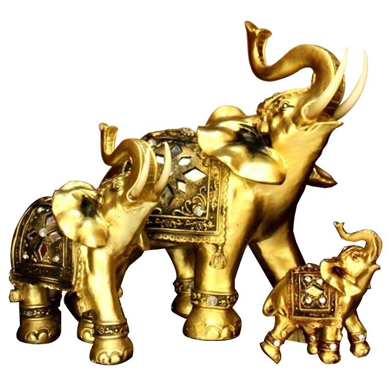 Domů Stolní dekorace Pryskyřice Ozdoby Dekorace Svatební dárky Zlatý slon Štěstí Vánoční dárek Domácí doplňky Řemesla S
