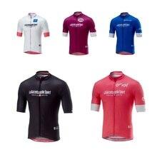 2018 pro girode ИТАЛИЯ italia команда розовые летние велосипедные майки быстросохнущая велосипедная Одежда MTB Ropa Ciclismo велосипедный Майо только