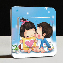 Free Shipping 1 PCS Switch Stickers Lovely Meng baby 2 Wall Tickers Home Decor