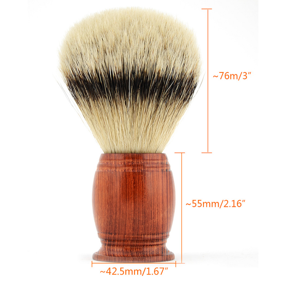ZY Shaving Brush Silvertip Badger Hair Men Beard Brush HUGE Rosewood Handle Barber Face Cleaning Tool