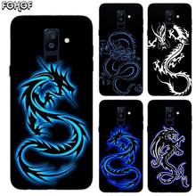 Beautiful Dragon Sketch Print Soft TPU Back Case For Samsung Galaxy A6 A8 Plus A5 A7 A9 Star 2018 A3 2017 A6S A8S Cover