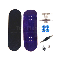 Canadian Maple Purple Finger Boards Professional Finger Skateboard Birthday Gift Nickel Bearing Wooden Finger Skate Fingerboards