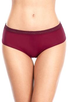 ATTRACO Women's Hipsters  Lace Underwear String Panties solid hollow out Briefs Cotton soft skin-friendly comfortable 4 Pack 4