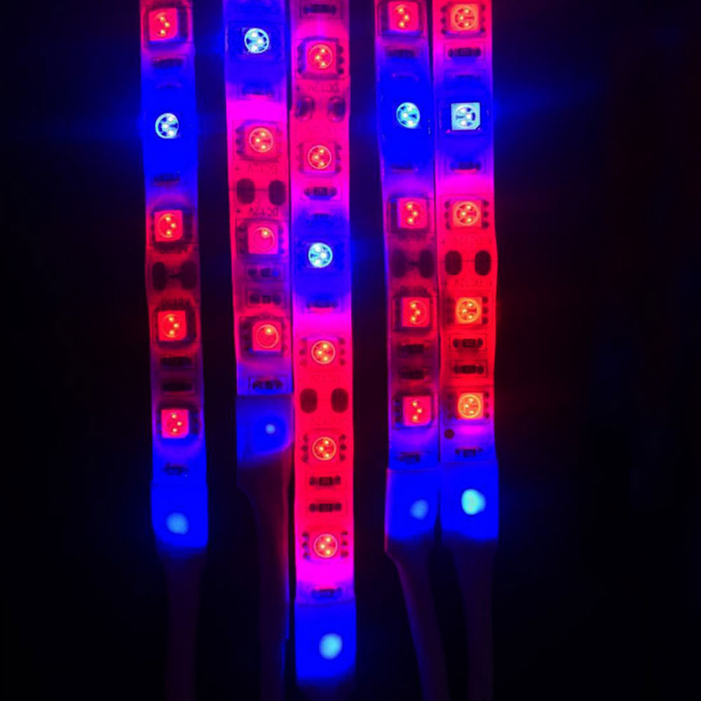 LED Plant Grow Light Bar Red Blue 3:1 Flexible Lamp Strip IP65 Waterproof 5m 12V