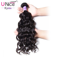 UNice Hair Kysiss Series Unprocessed Virgin Hair 1 Bundle Peruvian Natural Wave 8-26 INCH Can Buy 3 or 4 Bundles Human Hair(China)