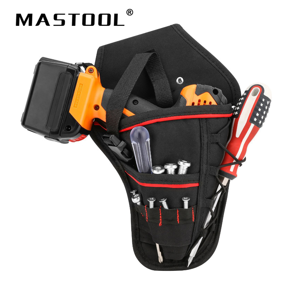 Waterproof Electrician Storage Bag Oxford Pockets Hardware Waist Tool Bag For Electric Drill Bag Cordless Holder Tool Bag tool bag quality multi purpose s apron waist pouch bodypack hand packs pockets holders carriers oxford waterproof black