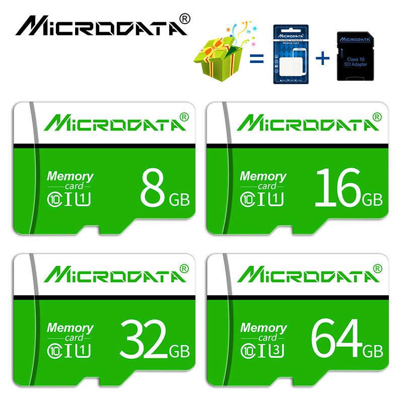 100% אמיתי קיבולת גבוהה מהירות class 10 SDHC/SDXC TF מיקרו SD כרטיסי 64 GB 32 GB 16 GB 8 GB מיני TF כרטיסי זיכרון עבור טלפון tablet