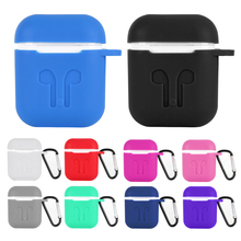 Bluetooth Earphone Case For Apple iPhone Airpods Candy Color Soft Silicon Protect Shockproof Cover 2 Charge Box
