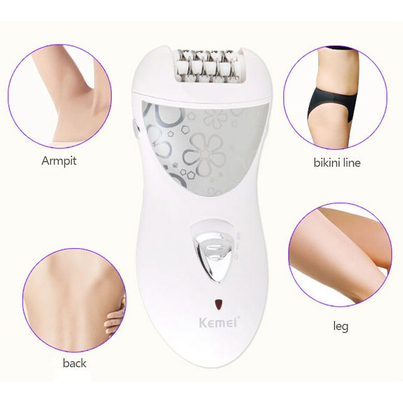 Kemei KM-505 Multi-function electric Epilator Shaver with 1 * host 1 * European regulations 1 * Protective cover 1 * grinding
