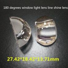 4 шт. 27x18x14 мм 27*18*14 мм u-образная Форма 180 градусов оконный светильник линза линия светящийся объектив СВЕТОДИОДНЫЙ Автомобильная Поворотная фара Объектив