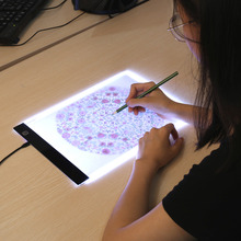 New LED lighted Copy Board light Pad Drawing Tablet Tracing Pad Sketch Book Blank Canvas for Painting Color Pencil Acrylic Paint