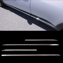 цены KOUVI ABS Chrome Body Door Side Molding Cover Trim 4pcs For Mazda CX-3 CX3 2015 2016 2017