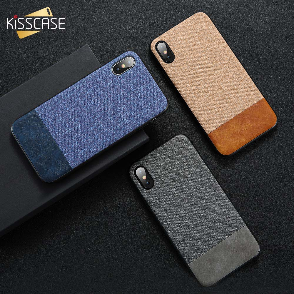 KISSCASE Retro Fabric Phone <font><b>Case</b></font> for <font><b>iPhone</b></font> 7 8 6 <font><b>6S</b></font> Plus X Cover PU <font><b>Leather</b></font> <font><b>Cases</b></font> For <font><b>iPhone</b></font> 11 Pro MAX X XS Max XR Soft Fundas image